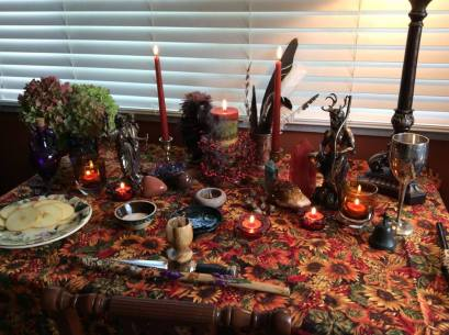 My Mabon Altar, 2015